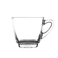 Bộ 2 tách uống cà phê Uni 247ml (Kèm đĩa), có quai, chất liệu thủy tinh, dành cho đồng uống nóng. thumbnail
