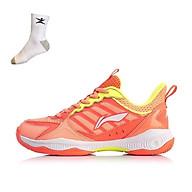Giày cầu lông nữ Lining AYTQ028-3 hàng chính hãng - Tặng kèm tất Bendu chính hãng thumbnail
