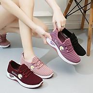 Giày thể thao nữ hoa cúc , giày đi bộ đế êm - TT8 thumbnail