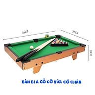 Bàn Bi Da Mini (Bàn Bi-a mini) thế hệ mới bằng gỗ dài 75 cao 63cm cho Người lớn và trẻ em giải trí vui chơi thumbnail