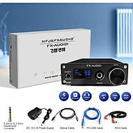 Bộ Giải Mã FX-Audio DAC D01 32 Bit 768Khz DSD512 Bluetooth 5.0 USB and Headphone Amplifier HiFi Stereo Digital to Analogue ES9038Q2M XMOS XU208 Support APTX HD LDAC DSD.512 with 6.35mm to 3.5mm Headphone Converter - Hàng Chính Hãng thumbnail