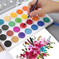 Bộ Màu Nước Water Color Cao Cấp 12 18 28 36 Màu Tặng Bút Lông Cọ Vẽ, Nắp Là Khay Pha Màu Tiện Dụng - Bộ Màu Nước Nhỏ Gọn Tiện Dụng Nhiều Màu Sắc Chất Lượng Vượt Trội - Hàng Chính Hãng VinBuy thumbnail