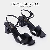 Gia y sandal cao go t Erosska thời trang mu i vuông phô i quai dây ma nh nhiê u ma u cao 5cm EB030 thumbnail