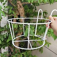Combo 05 móc tròn treo chậu hoa ban công, khung cửa sổ đường kính 22cm thumbnail