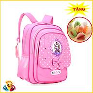 Balo cho bé gái tiểu học màu hồng màu đỏ thêu hình công chúa (Tặng sổ tay ghi chú trái cây ngẫu nhiên) E102 thumbnail