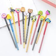 Bút chì Hàn Quốc nhiều màu siêu dễ thương - Bút chì viết cho học sinh ( phát màu ngẫu nhiên ) thumbnail