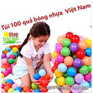 Túi 100 bóng nhựa cho bé vui chơi lều bóng Doremon nhà bóng Helokity chơi bể bơi hồ bơi thumbnail