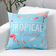 Vỏ gối tựa lưng sofa hồng hạc tropical thumbnail