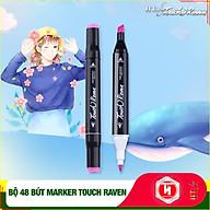 Bút Màu Marker Touch RaVen Cao Cấp - Túi Vải Bộ 48 Màu Vẽ Chuyên Nghiệp - Vẽ Anime, Truyện Tranh Manga, Phong Cảnh, Thiết Kế Thời Trang, Đồ Họa, Mỹ Thuật Công Nghiệp - Hàng Nhập Khẩu thumbnail