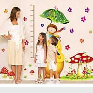 Decal dán tường thước đo cô bé vào chú gấu lớn cho bé XY1115AB thumbnail