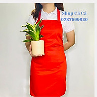 Tạp dề Kaki màu đỏ tươi dành cho Nam Nữ Phục Vụ, đầu bếp thumbnail