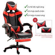Ghế gaming tặng kèm bộ gối tựa và massage lưng, Ghế game bọc da cao cấp ( Mầu ngẫu nhiên ) - Hàng chính hãng thumbnail