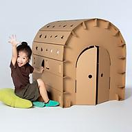 Nhà giấy carton cho bé size lớn cứng cáp, chắc chắn thumbnail