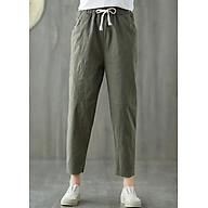 Quần baggy nữ lưng thun vải đũi thiết kế độc đáo 00115 thumbnail