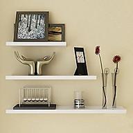 Kệ gỗ treo tường thanh ngang kệ gỗ treo tường phòng khách (3 thanh) thumbnail