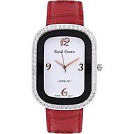 Đồng hồ nữ chính hãng Royal Crown 3771 dây da đỏ thumbnail