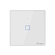 SONOFF T2EU2C-TX 2 Gang Smart WiFi Wall Light Switch 433Mhz RF Remote Control APP Touch Control Timer EU Standard Panel thumbnail