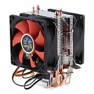 DC 12V Dual-Tháp Êm CPU Quạt Làm Mát Máy Tính Để Bàn CPU với 3 Viên Pin Cáp Kết Nối Dây thumbnail