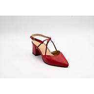 Giày Sandals SDC-13 Gót 6 Phân Bít Mũi Phối Quai Chéo Sac & Chic thumbnail