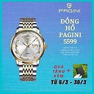 Đồng Hồ Nam Cao Cấp Chính Hãng Pagini Pa5599 Thép Không Gỉ - Chống Nước 3ATM - Hiển Thị 2 Lịch Đẳng Cấp - Tinh tế thumbnail