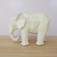 Tượng voi gấp khúc màu trắng thumbnail