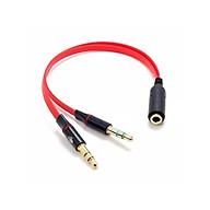 Cáp gộp tai nghe và mic ra jack 3,5mm âm thumbnail