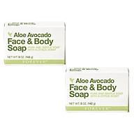 Combo 2 bánh Xà phòng rửa mặt và cơ thể Avocado Face and Body Soap ( 284)- 142gr cục thumbnail