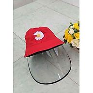 Mũ, nón vải thêu có tấm kính trong suốt chống dịch, chắn khói bụi- MẪU HOA CÚC(NHIỀU MÀU) thumbnail