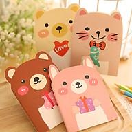 Sổ tay hình gấu dễ thương, sổ cute thumbnail