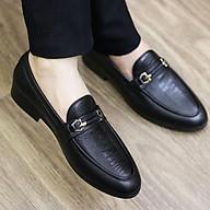 Giày Lười Da Nam Cao Cấp - Chất Liệu Da Mềm 100% - Đế Cao Su CAO 3CM - Mã G004 Màu Đen thumbnail