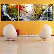 Tranh treo tường, tranh đồng hồ DH1309A bộ 3 tấm ghép thumbnail