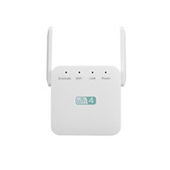 300Mbps Wireless Repeater WiFi Range Extender WiFi Signal Amplifier with Dual-antenna RJ45 Port White US Plug thumbnail