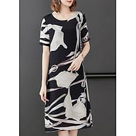 Đầm suông bigsize dạo phố kiểu đầm suông in họa tiết hoa ly ROMI1762 thumbnail