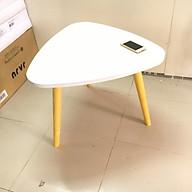 Bàn trà, bàn sofa tam giác trắng 60x45, bàn cafe phòng khách, bàn coffee, bàn gỗ cà phê thumbnail