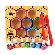 Bộ đồ chơi giáo dục Montessori đồ chơi xếp hình hình khối toán học cho bé thumbnail