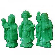 Bộ tượng đá Phúc Lộc Thọ xanh ngọc cao 17cm PLTX17 thumbnail