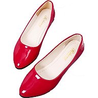 Giày búp bê da bóng mềm dáng chuẩn -304 Đỏ thumbnail