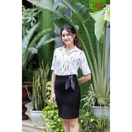 Viola_Chân váy ngắn chữ A dài trên, gối thắt nơ, chất liệu cao cấp, có giãn, mát mịn_VICV1402 thumbnail