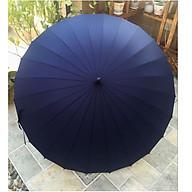 Ô dù cán dài 24 nan cỡ lớn siêu chắc chắn chống lật vải chống uv màu xanh đen thumbnail