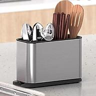 Hộp Vuông đựng dụng cụ nhà bếp, thiết kế đẹp mắt, sang trọng, khay đựng dao thìa nhiều ngăn đựng thumbnail
