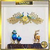Đồng Hồ Treo Tường Trang Trí Đẹp Con Công S-A999 chim khổng tước độc lạ 3d cỡ lớn nghệ thuật phù hợp cho phòng khách, phòng ngủ thumbnail