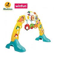 Kệ Chữ A đồ chơi đa, treo thành cũi có nhạc 3 in 1 hình động vật Winfun 0853 - Đồ chơi cho bé sơ sinh tới 1 tuổi - tặng đồ chơi tắm 2 món thumbnail