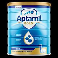 Aptamil Gold+ 1 Baby Infant Formula From Birth to 6 Months 900g Sữa Công Thức Úc Cho Trẻ Sơ Sinh Đến 6 Tháng - Bổ Sung Men Tiêu Hóa và 18 Loại Vitamin Thiết Yếu Cho Trẻ Phát Triển Toàn Diện thumbnail