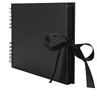40Sheets(80Pages) Coil Style Bowknot Ribbon Circlip Photo Album DIY Scrapbook thumbnail