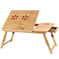 Bàn kê laptop có quạt tản nhiệt kép bằng gỗ trúc sào D2-ST976 thumbnail