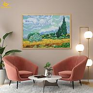 Tranh in canvas trang trí treo tường - Cánh đồng lúa mì xanh Van Gogh thumbnail