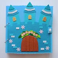 Đồ chơi Sách vải Búp bê Công chúa Elsa (Hình thật 100%) - Quiet Book Frozen - Đồ chơi sách vải Handmade Elsa cho bé gái thumbnail