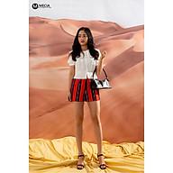 Quần short nữ QN024 quần đùi nữ lưng cao chất vải mềm mịn họa tiết kẻ sọc phong cách cá tính sang chảnh thumbnail