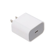 PD 20W Charger Quick Charge Compatible with 18W Universal Broadband Voltage USB-C Adapter US Plug White thumbnail