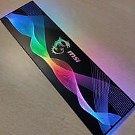 Tấm che nguồn PC Led 5v ARGB logo MSI, đồng bộ màu Mainboard hoặc bộ Hub khiển quạt, thiết kế hình sóng vô cực - Hàng nhập khẩu thumbnail
